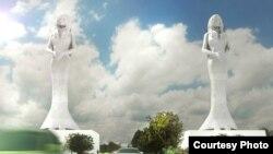 Predloženi izgled statua Nada i Zora