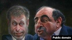 Путин һәм Медведевтан көлгән рәсемнәр күргәзмәдән алынган