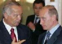 President Karimov (left) with Russian President Putin in July (epa)