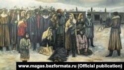 """Картина Багаудина Сагова """"Назрань. Выселение"""""""