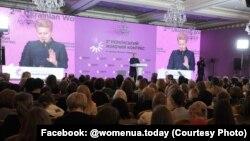 Президент Литви Даля Ґрібаускайте на другому Українському жіночому конгресі, 7 грудня 2018 року