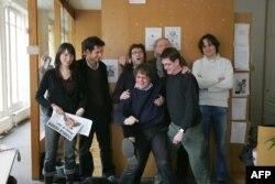 Cabu și Charb, Tignous și Honore , o fotografie de grup a redactorilor de la Charlie Hebdo