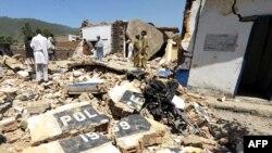 Пакистан -- Бунерде талиптер полициянын кеңсесин талкалап салышты.