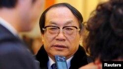 Қытайдың бұрынғы теміржол министрі Лю Чжицзюнь. Пекин, 3 наурыз 2013 жыл.