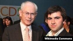 Бельги -- Евробертан куьйгалхо Herman Van Rompuy а, Бельгера политик Исаев Артур а, Брюссель, 2012