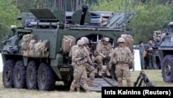 Військові США під час навчань НАТО в Польщі, 2017 рік