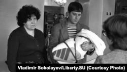 """""""Торжественная регистрация новорожденного"""", ЗАГС Центрального района, 1 октября 1983 года"""