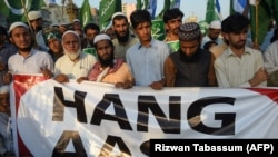 Many Pakistanis protested the acquittal of Christian woman Asia Bibi, who had been charged with blasphemy. (file photo)