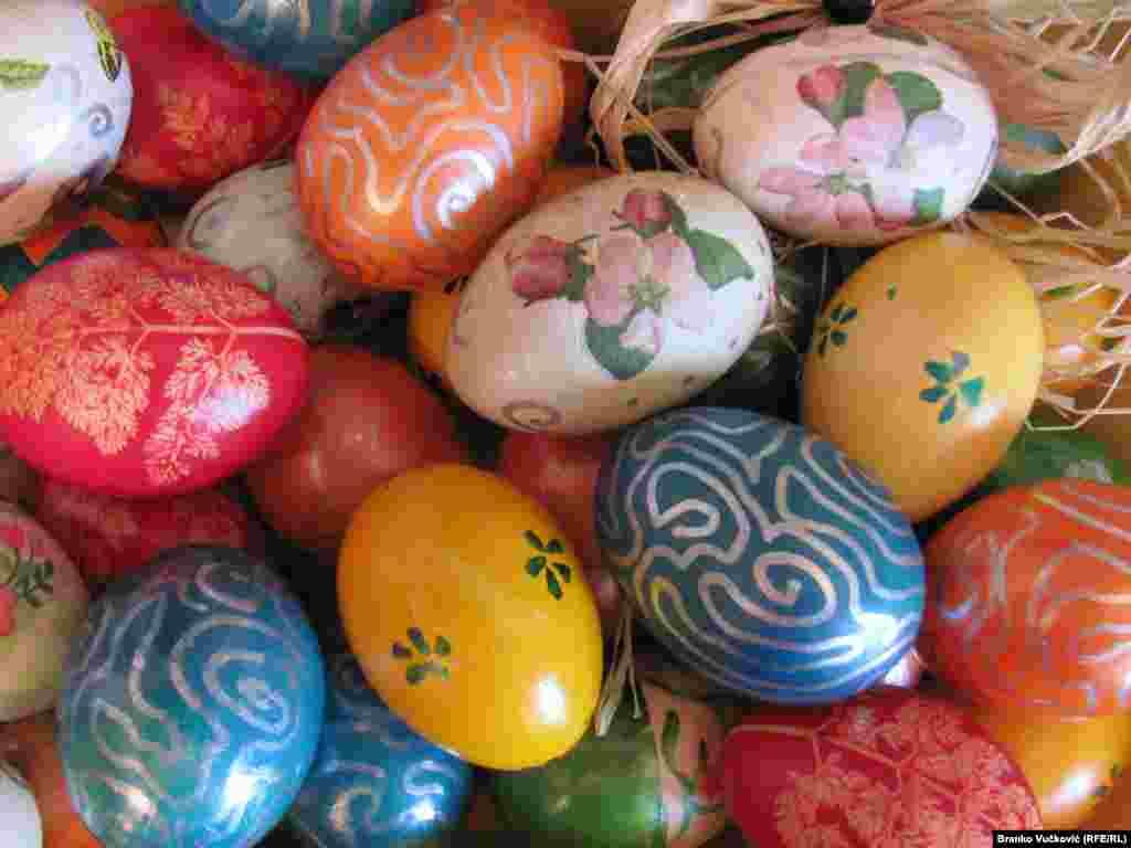 Ouă de Paște la Kragujevac în Serbia.