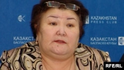 «Ар-намыс» ұйымының жетекшісі Ғалия Әміртаева. Алматы, 4 ақпан 2009 жыл.