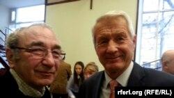 """Председатель правления """"Мемориала"""" Арсений Рогинский и Турбьерн Ягланд"""