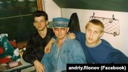 Андрей Филонов в юности(справа)