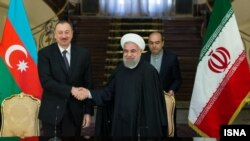 İlham Əliyev və Hassan Rouhani .