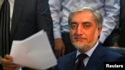 Former Foreign Minister Abdullah Abdullah is one of a large group of contenders for the Afghan presidency. (file photo)