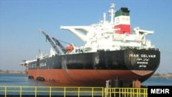 The Iran Delvar, an Iranian Oil Tanker.