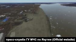 Паводок в Якутии, вид сверху