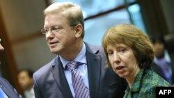 Avropa Birliyinin komissarı Stefan Fule və ali nümayəndəsi Catherine Ashton