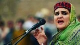 FILE: Sanna Ejaz, a female leader of the Pashtun Tahafuz (Protection) Movement, or PTM, decided to lodge a formal police complaint after receiving threats.
