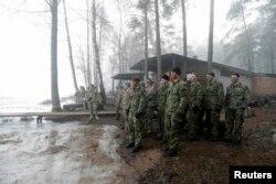 Американские военнослужащие на учениях в Латвии. Февраль 2015 года