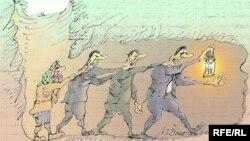 کاریکاتوری از کارتونیست روس، میخائیل زلاتکوفسکی.