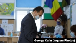 Romania, Ludovic Orban a votat la o secție din Dobroești, Ilfov