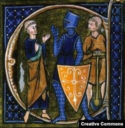 Священник, рыцарь и крестьянин. Иллюстрация из французского манускрипта XIII века, изображающая основные сословия средневекового общества