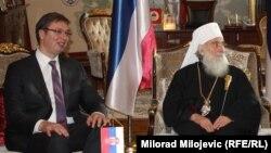 Aleksandar Vučić i patrijarh Irinej, ilustrativna fotografija
