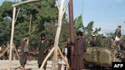 A public execution in Afghanistan during the 1990s (file photo)