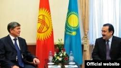 Кыргыз-казак премьерлери Атамбаев менен Масимовдун быйыл 4-февралдагы жолугушуусу, Астана.