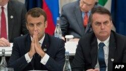 Francuski predsednik Emmanuel Macron i brazilski predsednik Jair Bolsonaro, arhivska fotografija