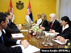 Sa jednog od ranijih sastanka MMF-a i Vlade Srbije, 2010.