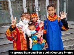 Акция протеста коренных жителей Таймыра против чиновников и промышленников