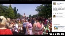 Шествие «Бессмертный полк» в Ташкенте, 9 мая 2016 года.