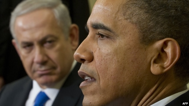 U.S. President Barack Obama and Israeli Prime Minister Benjamin Netanyahu (left) speak during a meeting in the Oval Office on March 5.