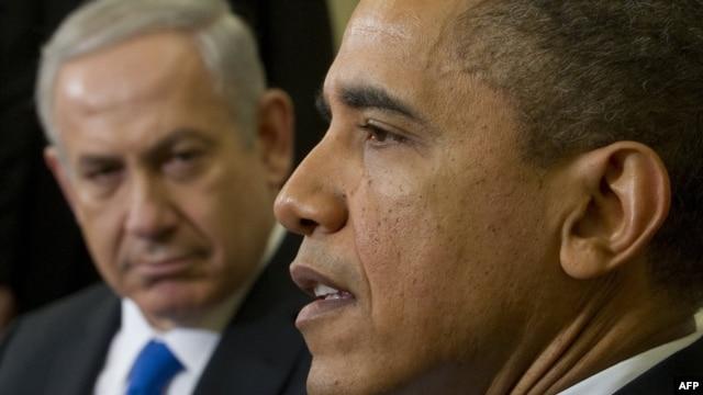 Președintele Barack Obama și premierul Benjamin Netanyahu la Casa Albă, în martie 2012