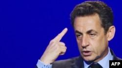 Николя Саркози, президент Франции. Франция, 30 марта 2012 года.