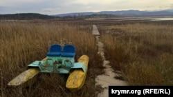 Тайганский водоем в районе Белогорска. Ноябрь 2016 года