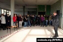 Бабарыка на сустрэчы зь людзьмі ў Віцебску, 4 чэрвеня 2020 году