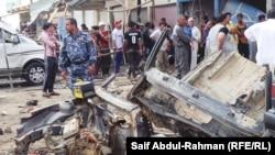 انفجار ارهابي في العزيزية (الارشيف)