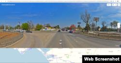Стационарный пост ГИБДД (выделен красным) на выезде из Сак в сторону Симферополя