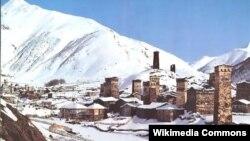 Горное селение (Сванетия, Большой Кавказ)