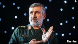 Brigadier General Amir Ali Hajizadeh, the head of the Guards' aerospace force. File photo