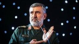 Brigadier General Amir Ali Hajizadeh, the head of the Iran Guard's aerospace division, March 07, 2018.