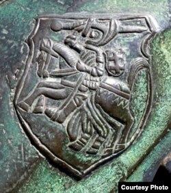 Герб Пагоня на гармаце Жыгімонта І Старога. 1529 г.