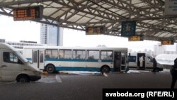 Belarus - Maskouski Bus Station in Minsk, 5Dec2013