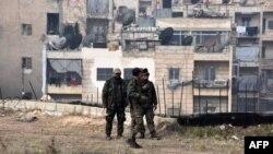 Prorežimske sirjiske snage u Šejh Saedu, delu istočnog Alepa koji su preuzeli od pobunjenika 12. decembra 2016.