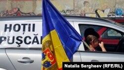 La un protest anticorupție la Chișinău