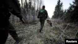 Финские военные на границе с Россией