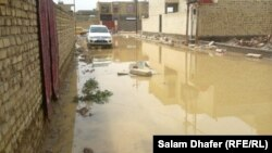 جانب من الأمطار والسيول في ميسان