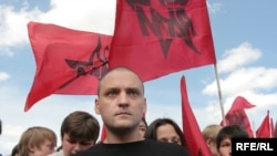 Sergei Udaltsov was arrested at the protest (file photo)